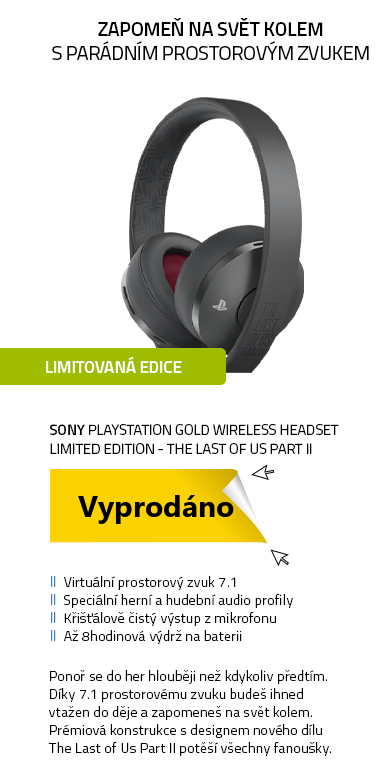 SONY PlayStation Gold Wireless Headset Limited Edition - The Last of Us Part II