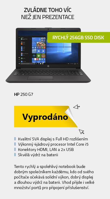 Notebook HP 250 G7 Šedá