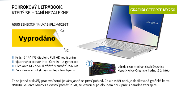Notebook ASUS Zenbook 14 UX434FLC-A5293T stříbrná