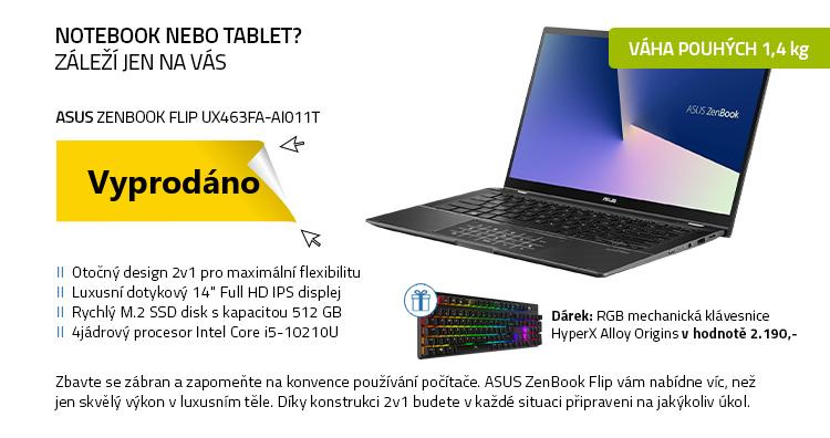 Notebook ASUS ZenBook Flip UX463FA-AI011T šedá
