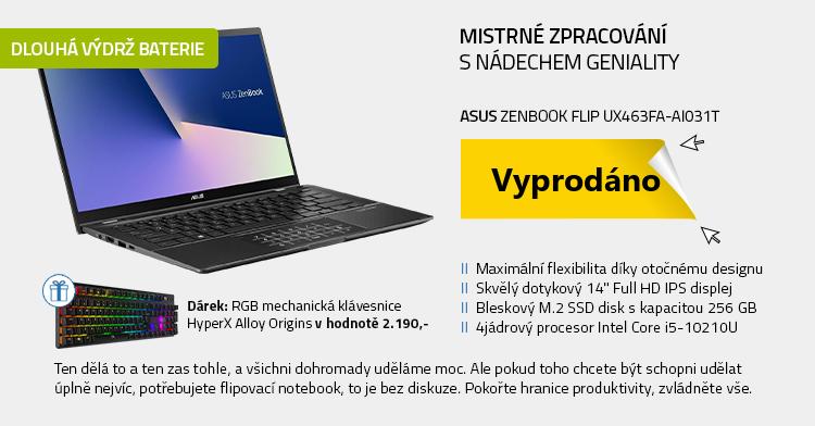 Notebook ASUS ZenBook Flip UX463FA-AI031T šedá