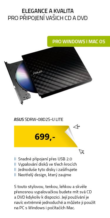 ASUS SDRW-08D2S-U LITE černá