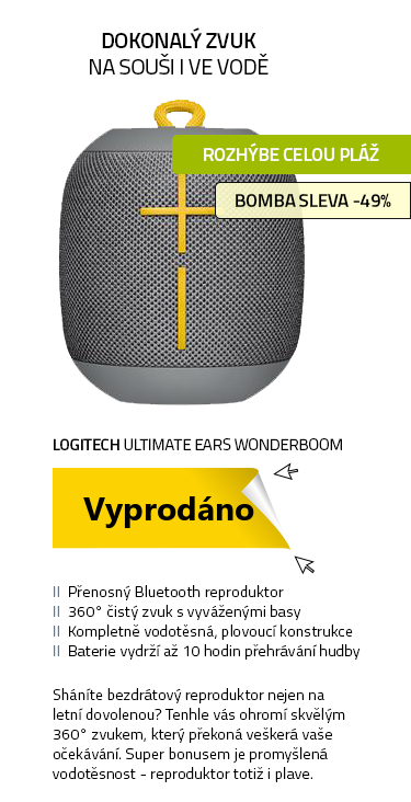 Logitech Ultimate Ears Wonderboom stone grey šedá