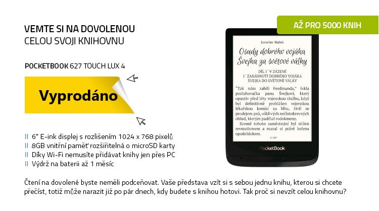 PocketBook 627 Touch Lux 4 černá