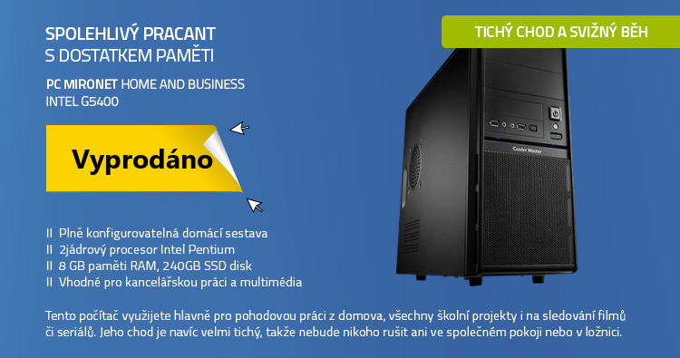 PC Mironet Home and Bussiness Intel G5400 bez OS