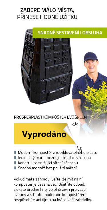 PROSPERPLAST Kompostér EVOGREEN - Černá