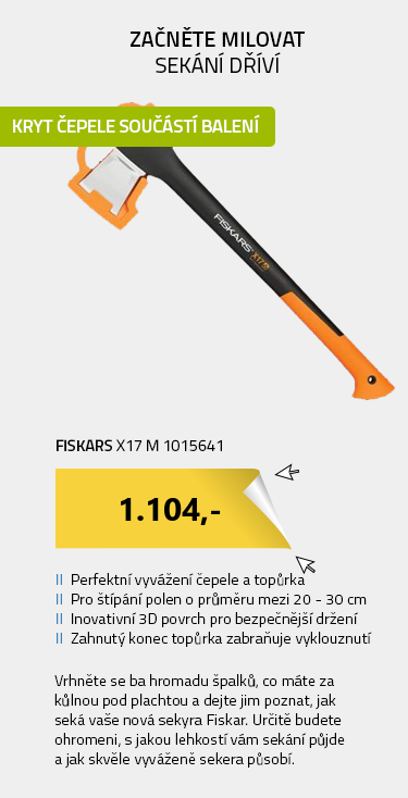 Fiskars X17 M 1015641 Sekera štípací