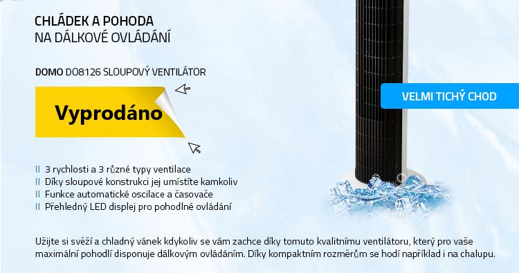 Mironet.czDOMO DO8126 sloupový ventilátor s dálkovým ovládáním