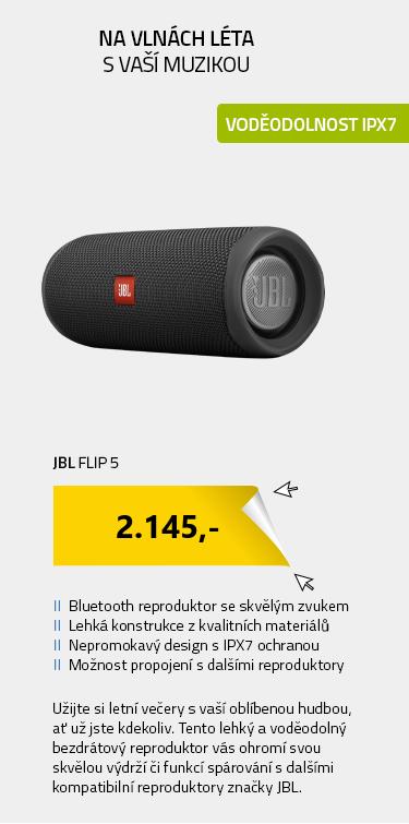 JBL Flip 5 černá