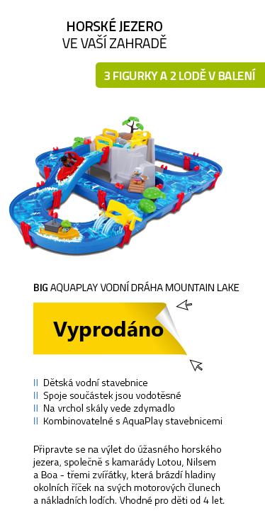 BIG AquaPlay Vodní dráha Mountain Lake s jeskyní & skluzavkou a přehradou + 2 figurky