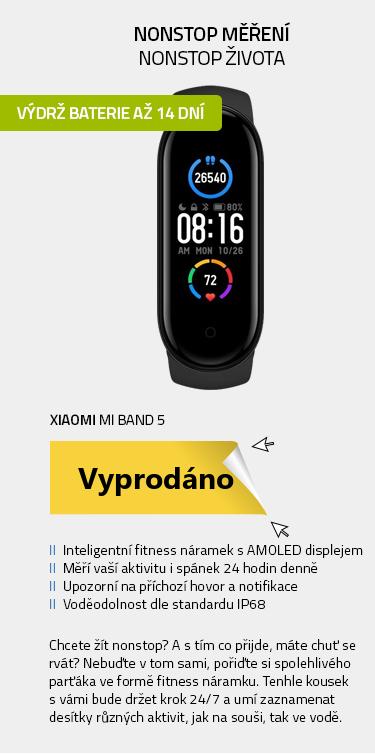 Fitness náramek Xiaomi Mi Band 5 černá