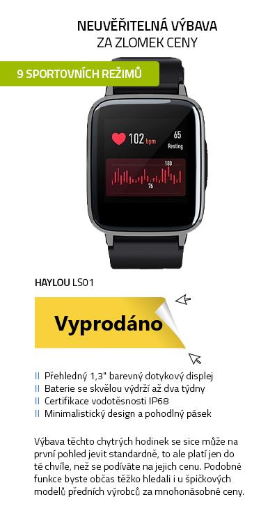 Xiaomi Haylou LS01 Smartwatch černá
