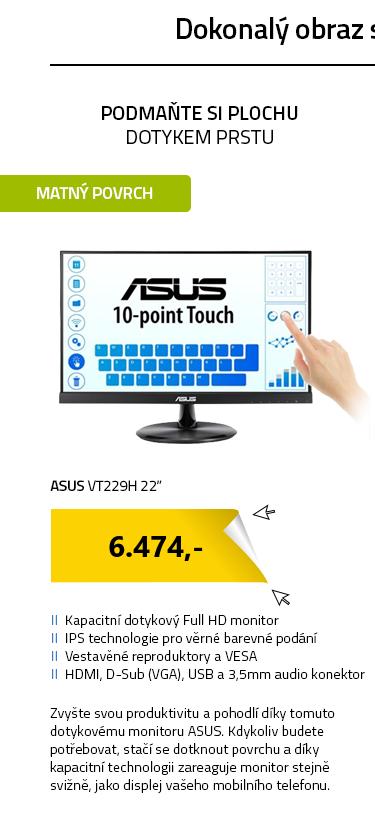 """LCD Monitor 22"""" ASUS VT229H černá"""
