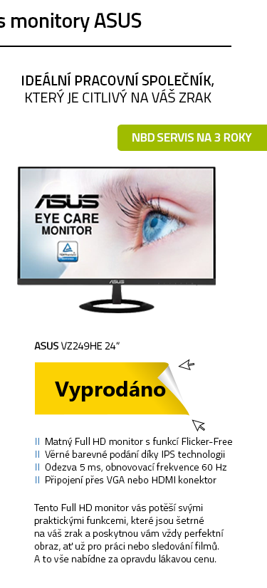 """LCD Monitor 24"""" ASUS VZ249HE"""