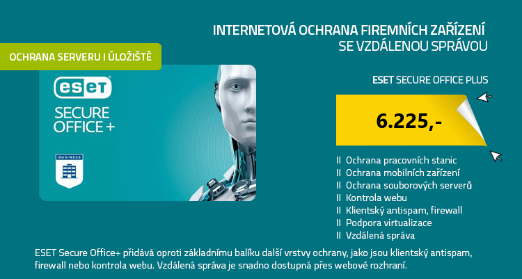ESET Secure Office Plus , 5 stanic , 1 rok