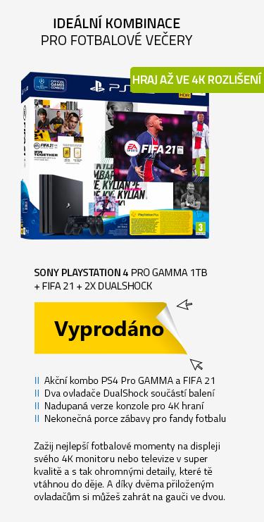 SONY PlayStation 4 Pro Gamma - 1TB + FIFA 21 + 2x DualShock