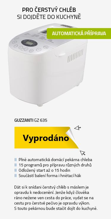 Guzzanti GZ 635 stříbrná-bílá