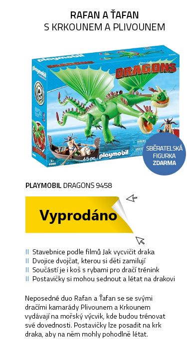 Playmobil Dragons 9458 Rafana a Ťafan s Krkounem a Plivounem