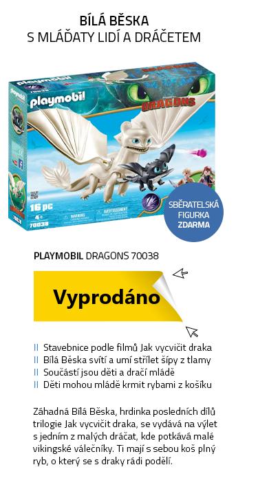 Playmobil Dragons 70038 Bílá Běska a dráče s dětmi