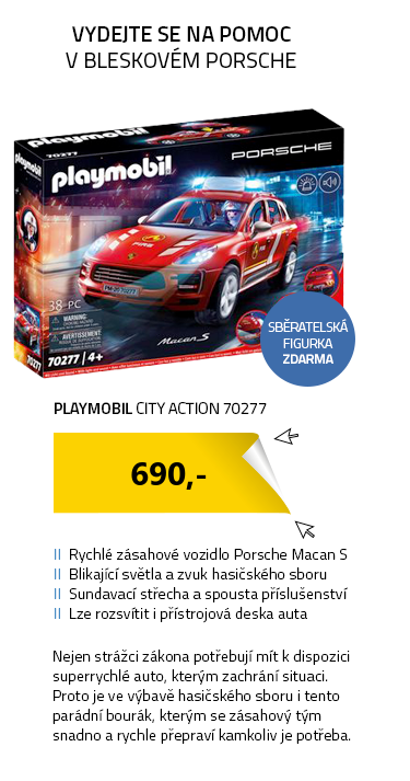 Playmobil City Action 70277 Porsche Macan S Hasiči