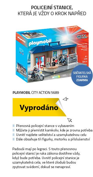 Playmobil City Action 5689 Přenosná policejní stanice