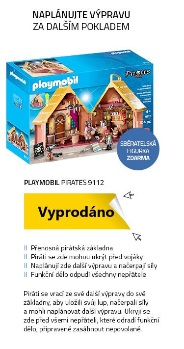 Playmobil Pirates 9112 Přenosné Pirátské opevnění
