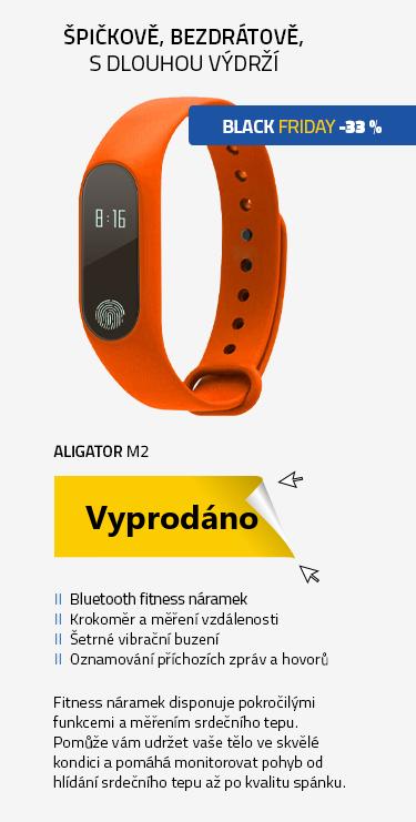 Fitness náramek Aligator M2 Bluetooth fitness náramek oranžový