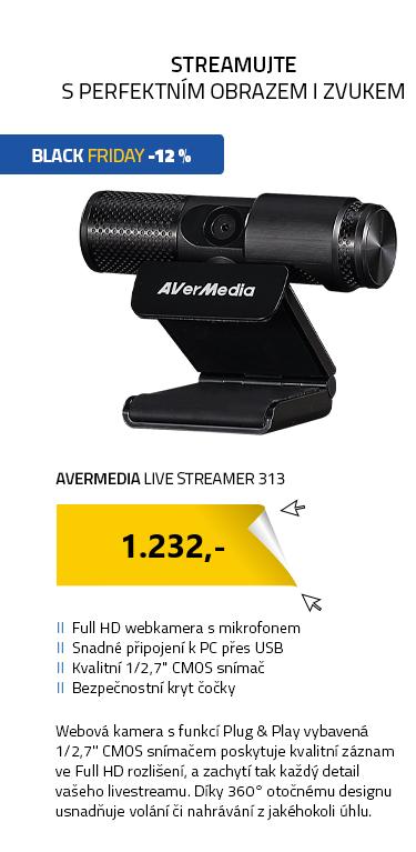 AVerMedia Live Streamer 313 černá