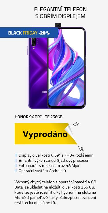 Mobilní telefon - Honor 9X Pro LTE 256GB fialová