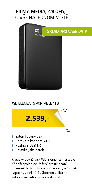 WD Elements Portable 4TB + POUZDRO