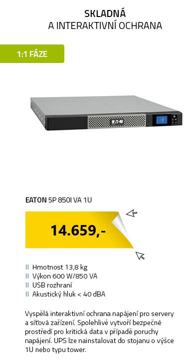 Eaton 5P 850i VA 1U