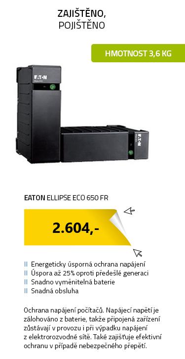 Eaton Ellipse Eco 650 FR