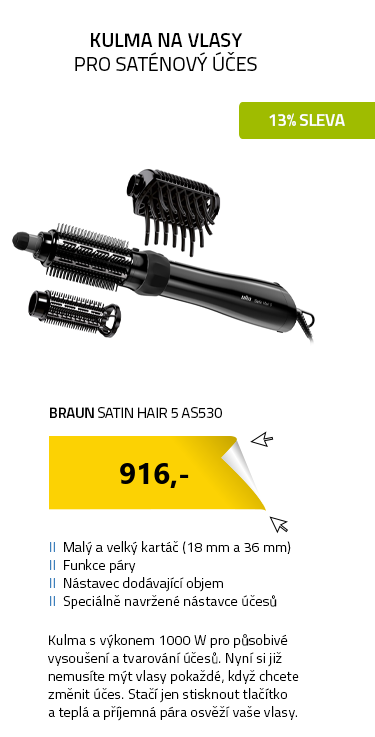 Braun Satin Hair 5 AS530 černá