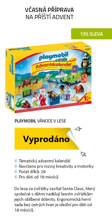 """Playmobil 1.2.3 9391 Adventní kalendář """"Vánoce v lese"""""""