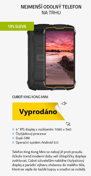 Mobilní telefon - Cubot King Kong Mini černo-oranžová