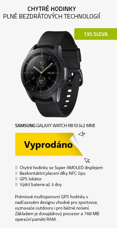 Chytré hodinky SAMSUNG Galaxy Watch R810 (42 mm) Black
