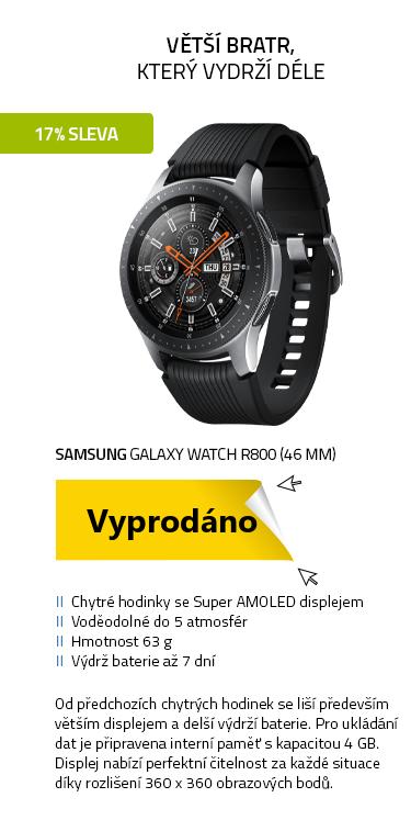 Chytré hodinky SAMSUNG Galaxy Watch R800 (46 mm) Silver