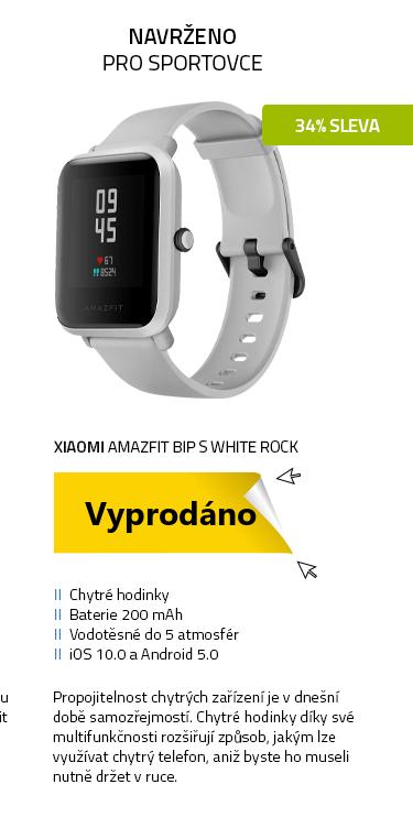 Xiaomi Amazfit Bip S White Rock - šedá