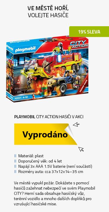 Playmobil City Action 70557 Hasiči v akci s hasičským vozem