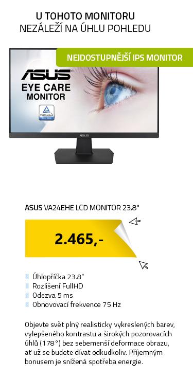"""LCD Monitor 23.8"""" ASUS VA24EHE černá"""