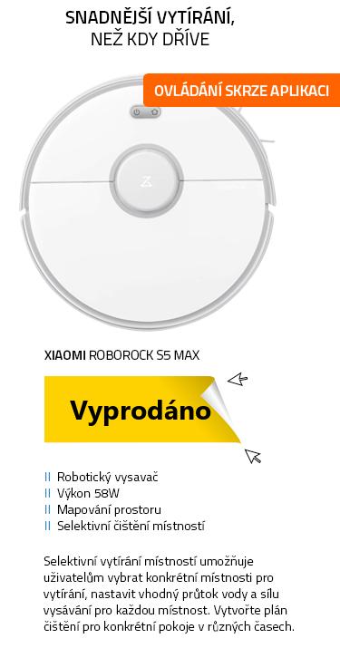 Xiaomi Roborock S5 Max bílá