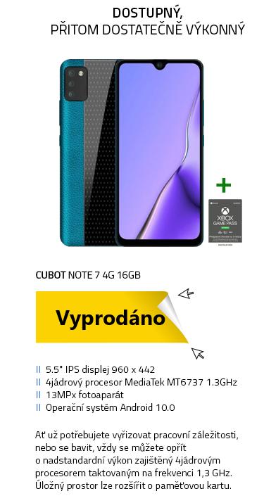 Mobilní telefon - Cubot Note 7 4G 16GB zelená