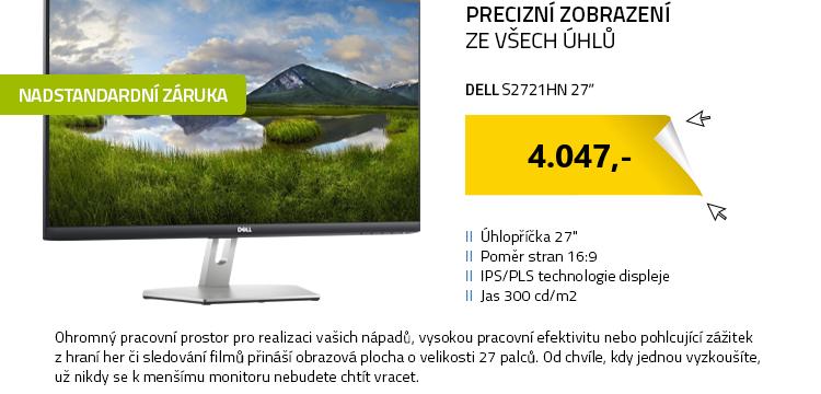 """LCD Monitor 27"""" DELL S2721HN stříbrná"""