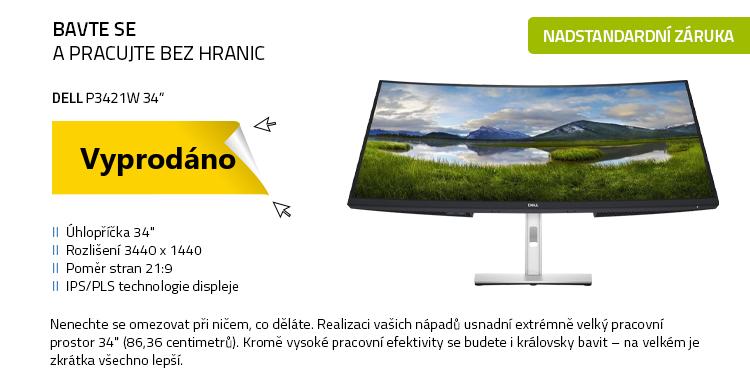 """LCD Monitor 34"""" DELL P3421W černá"""