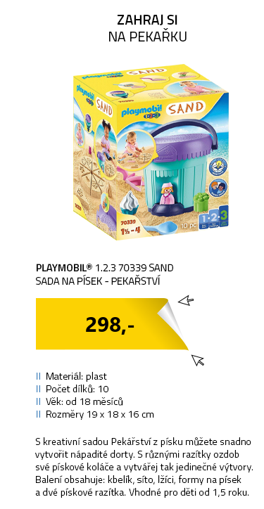 Playmobil 1.2.3 70339 SAND Sada na písek - Pekařství