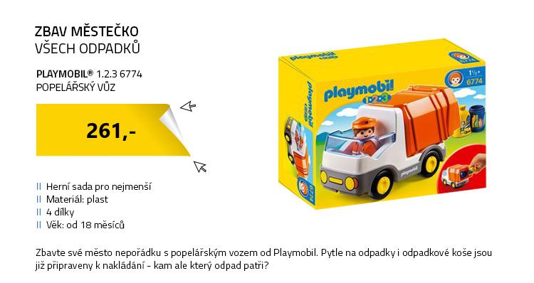 Playmobil 1.2.3 6774 Popelářský vůz