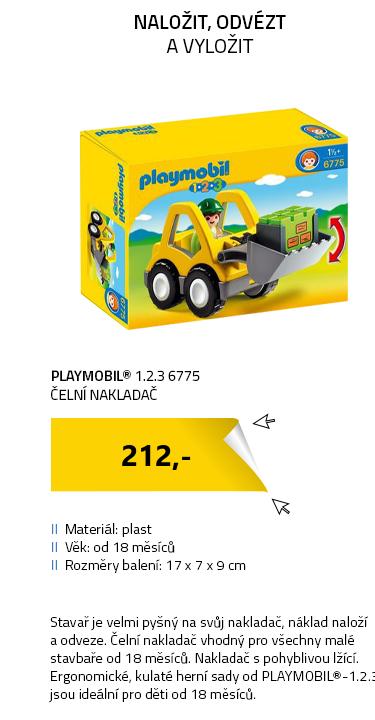 Playmobil 1.2.3 6775 Čelní nakladač