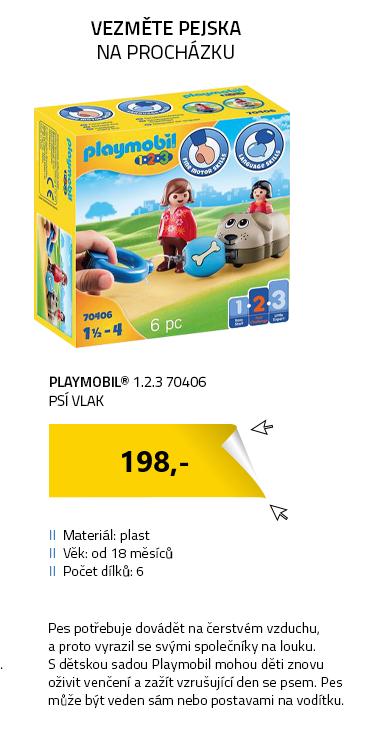 Playmobil 1.2.3 70406 Psí vlak