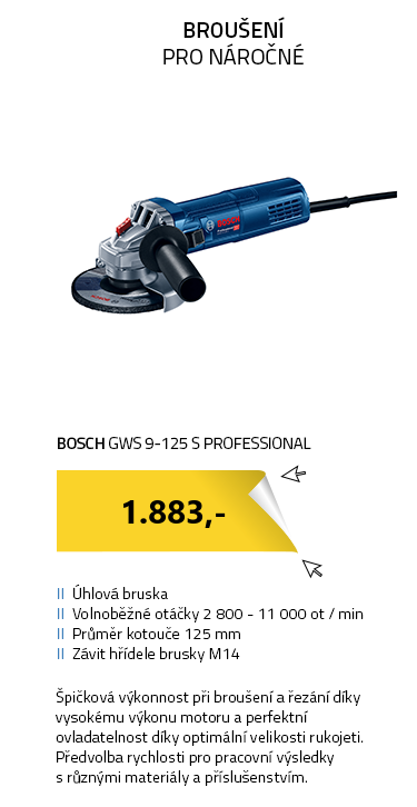 BOSCH GWS 9-125 S Professional