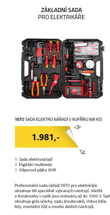 YATO Sada elektro nářadí v kufříku (68 ks)
